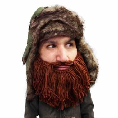 Russische bontmuts bruine baard