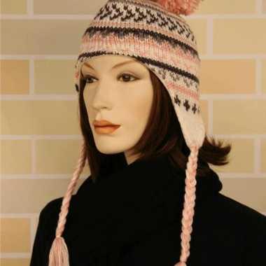 Russische hippie peruaanse dames muts roze