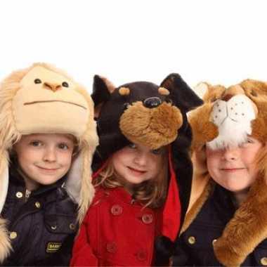 Russische kinder bontmuts apen hoofd