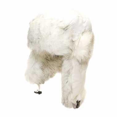 Russische witte bontmuts oorflappen dames